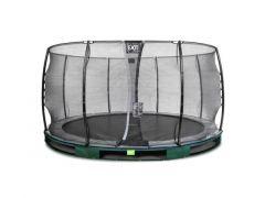 Exit Elegant Ground Premium Trampoline 427Cm + Safetynet Economy Green