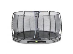 Exit Elegant Ground Premium Trampoline 427Cm + Safetynet Economy Grey