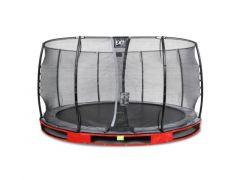 Exit Elegant Ground Premium Trampoline 427Cm + Safetynet Economy Red