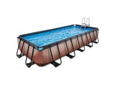 Exit Zwembad Rechthoekig Frame Pool 5.4X2.5X1M Premium – Timber Style