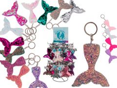 Out of the blue Mermaid Sleutelhanger Sequin En Glitter 12 Kleuren Assortiment Per stuk