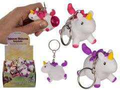 Out of the blue Unicorn Sleutelhanger Squeeze Pop Fart 5Cm Assortiment Per Stuk