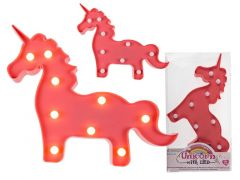 Out of the blue Unicorn Pink Pvc Met 9 Led Lampjes 30X24Cm