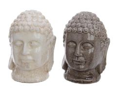 Terra Buddha Head 2Col Ass Assorted 10.5X10X14.5Cm