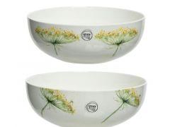 Porc Bowl 2Ass White/Colour(S) Dia28X10Cm