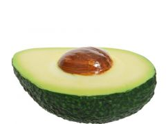 Poly Avocado Half Green 6.5X10.5X4.5Cm