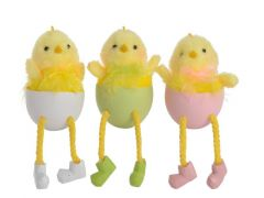 Pls Chick In Egg 3Col Ass Assorted 12X6.5X5Cm