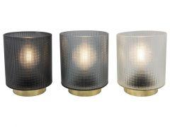 D Tafellamp Relief Met Filemant Lamp 15Cm 3Xaa Assortument Per Stuk