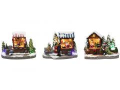 K Kerststalletje Led 14,5Cm Assorti Prijs Per Stuk