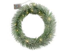 K Kerstkrans 20Led 40Cm Groen 3Xaa Exclusief