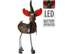 K Rendier Op Metalen Poten Met Led Warm Wit 27X20X55Cm, Groen-Rood