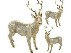 K Rendier Staand,14X6,5X16Cm, Champagne G0Udkleurig,  2 Assortiment Prijs Per Stuk Designs