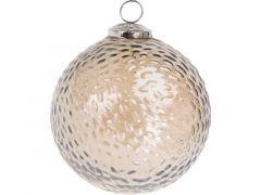 K Kerstbal Gehamerd Glas, Glanzend, Dia 12,5Cm