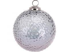 K Kerstbal, Gehamerd Glas, Dia 12,5Cm, Glanzend Blauw