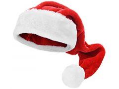 K Kerstmuts Pluche, 70Cm, Dia Pompon 6,5Cm