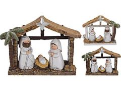 K Kerststal 3 Figuren, 13,5X5X11Cm, 12Sts, 2 Assortiment Prijs Per Stuk Designs