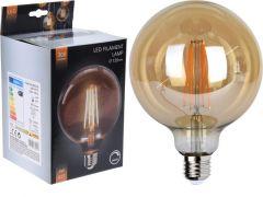 D Led Lamp, G125, Amber, Dimbaar, Dia 12.5X17Cm, 4 Watt, E27 Sokkel
