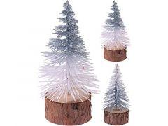 K Kerstboom Glitter, Houten Voet Dia 7X14Cm, 2 Assortiment Prijs Per Stuk