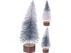 K Kerstboom Glitter Met Houten Voet Dia 9X25Cm, 2 Assortiment Prijs Per Stuk