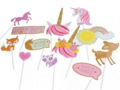 Photo Props Kit Magical Unicorn 12-Delig