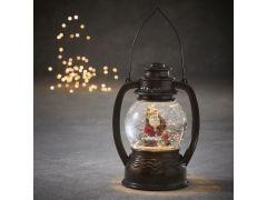 Lantaarn Kerstman Antiek Bruin Warm Wit Led 14X11X19.7Cm