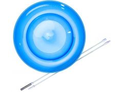 Eureka Set Acrobat Soft Spinning Plate Blue + Hand Stick