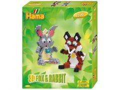 HAMA MEDIUM GIFT BOX 3D KONIJN+VOS 2500 STRIJKPARELS