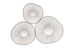 Decoratie Spiegel 3-Delig 65X4X50Cm Messing/Antiek Goud