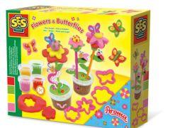 Ses Klei Geurende Bloemen En Vlinders