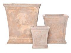 Bloempot 30X30X34Cm Terracotta Antiek Bruin (midden)