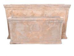 Bloembak 56X24X26Cm Terracotta Antiek Bruin (klein)