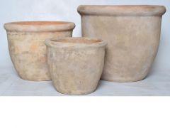 Bloempot D40Xh31Cm Terracotta Antiek Bruin (midden)