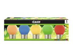 Calex Party Led Ball-Tray 240V 1W 12Lm E27 5 Color