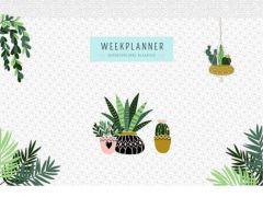 Weekplanner - Houseplants