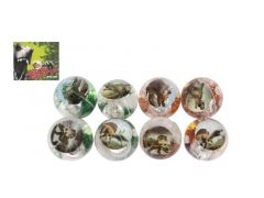 Dinoworld Stuiterbal Dinosaurier Met Licht 6.5Cm 8 Assortimenten Prijs Per Stuk
