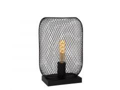 Lucide Mesh Tafellamp E27/60W H32.5 Cm Zwart
