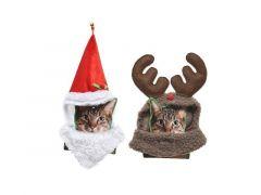 Kat Polyester Kostuum 2Ass Santa - Reindeer