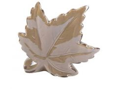 D Ornament Marple Leaf Bruin 10X3Xh9Cm Ker