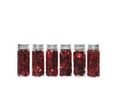 Beeldjes Plastic Glitter Kerstrood 6 Assortimenten Prijs Per Stuk