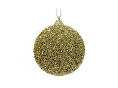 Kerstbal Foam Glitter Kraal Dia8Cm Licht Goud