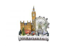 Led Kerst Londen Scene 31X23X34Cm-31L Multi