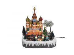 Led Kerst Moscow Scene 27X31X29Cm-29L Warm Wit