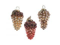 Druiven Glas Glitter 6.5X6.5X11Cm 3Assortiment Prijs Per Stuk