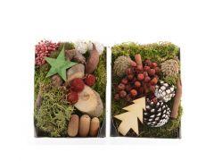 Kerstdeco Naturel 14X20Cm Natuur/Kleur 2 Assortimenten Prijs Per Stuk