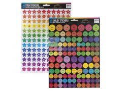 Stickers Ster/Smile A4 Glitter