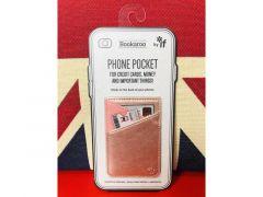 Bookaroo Phone Pocket Metallic Rose Gold