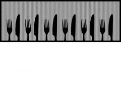 Keukenloper 50X150Cm Mes/Vork Grijs