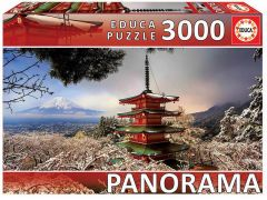 Educa Puzzel 3000 St. Fuji Berg En Pagode Chureito Japan