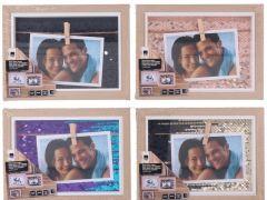 Photoframe 20.5X15.5X2Cm 4Ass 255X220X170Mm