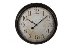 Hamilton Clock Leather Frame Black Metal